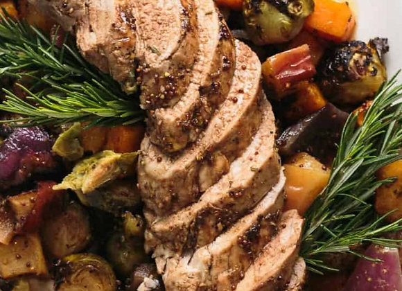 copy of Rosemary Pork Tenderloin with Brussel Sprouts and Carrots