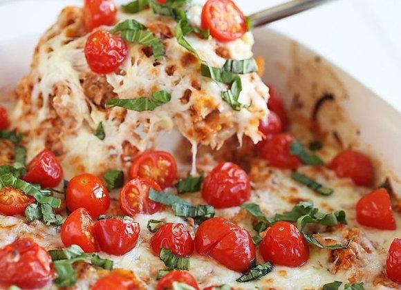 Vegetarian Caprese Tortellini Bake w/Garlic Texas Toast