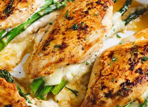 Asparagus Stuffed Chicken Breast & Garlic Roasted Radishes