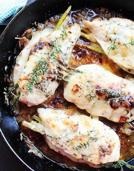 Keto Bleu Cheese Stuffed Chicken w/Asparagus & Cauliflower Rice