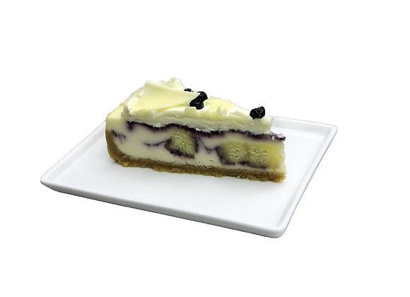 White Chocolate Blueberry Cheesecake Pie