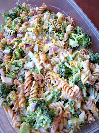 Broccoli Cheddar Ranch Pasta Salad