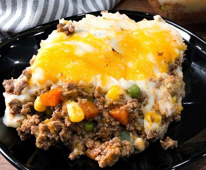 Impossible Beef Shepherd's Pie w/Herb Butter Yeast Rolls