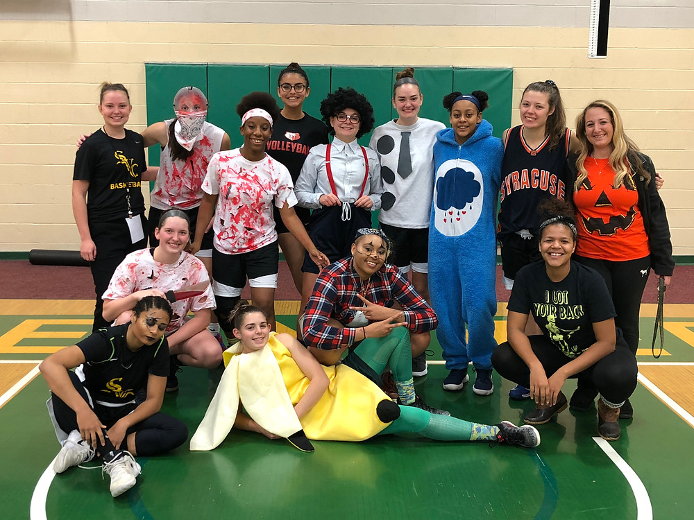 Halloween Day at practice