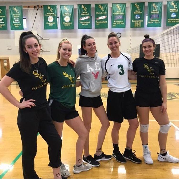 "Volleyball players as ""Coach Lauren"""