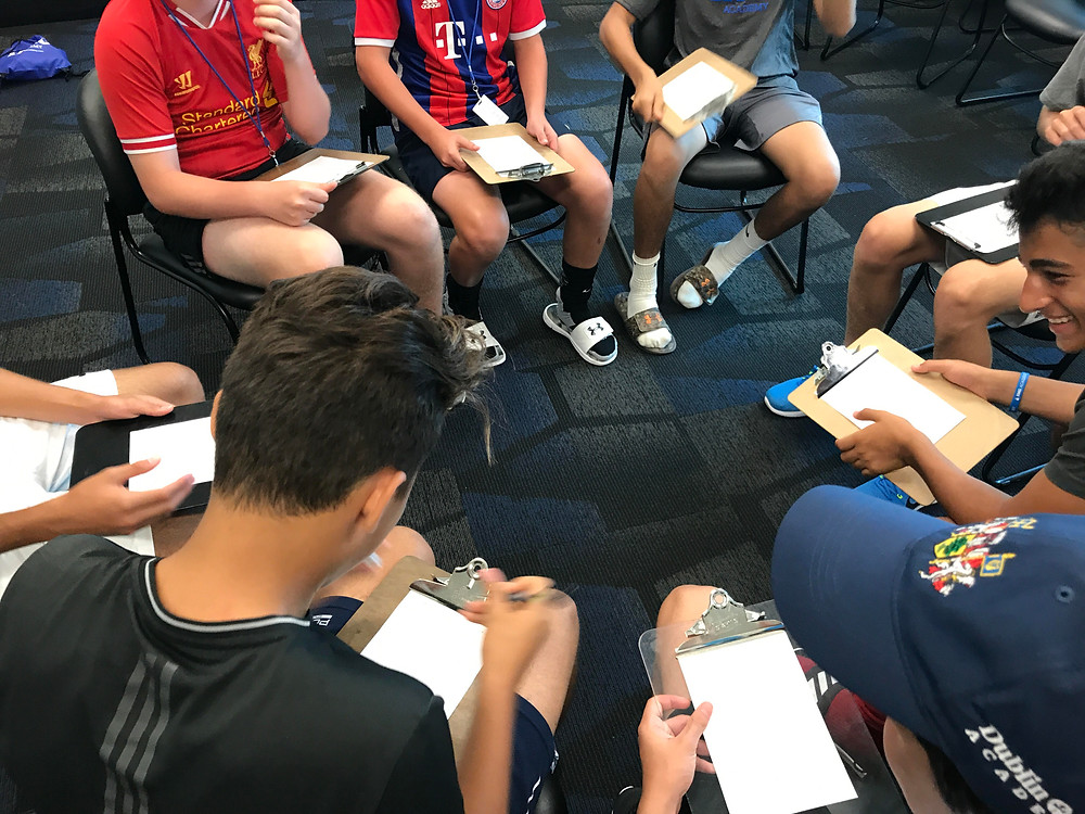 IMG Academy soccer players activity style session