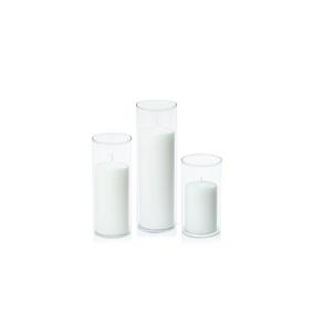 Cylinder pillar candle holder set