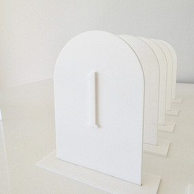 Table numbers - Modern matte white arch