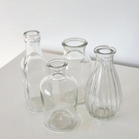Glass bud vases - Assorted set