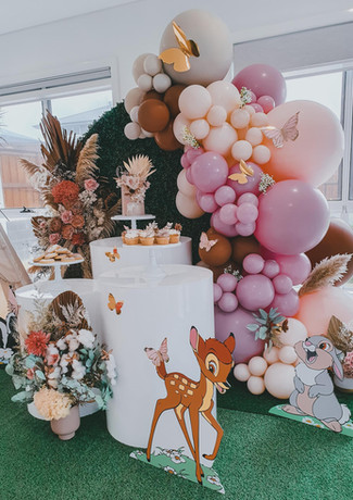 event styling central coast birthday party, baby shower
