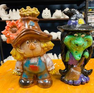 painted ceramic halloween