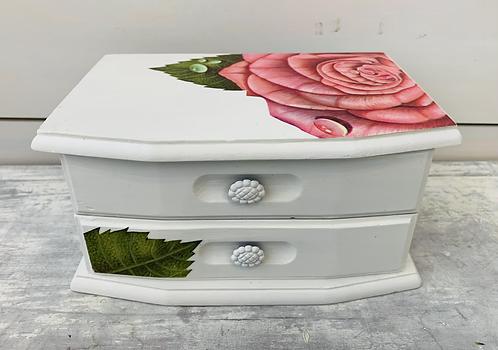 Rose White Jewelry Box