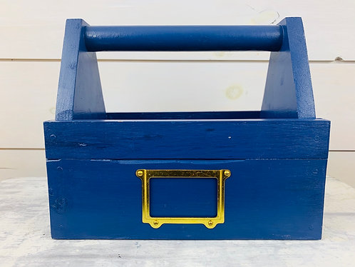 Blue Flower Toolbox