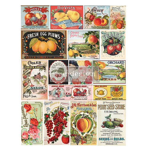 "VINTAGE SEED-REDESIGN DECOR TRANSFERS® –24""x35"""