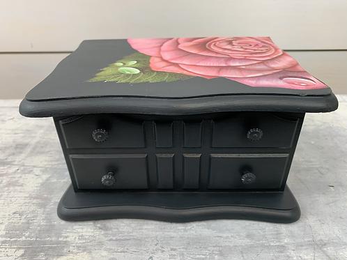 Rose Black Jewelry Box