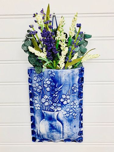 Vase with Flowers Wall pocket