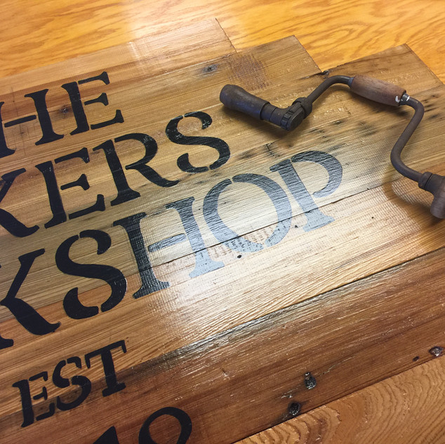 The Makers Workshop Sign