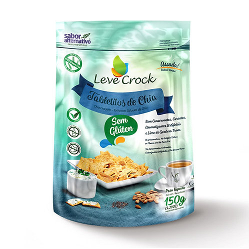 Biscoito Tabletitos Chia 150G Leve Crock