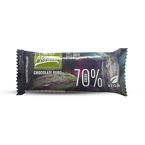 Chocolate puro 70% cacau 20g