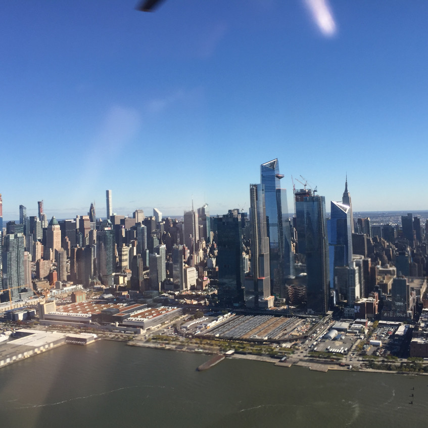 Skyline from helicopter