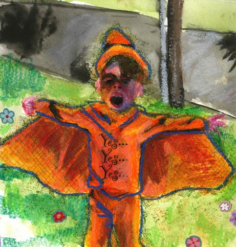 Sam's Pterodactyl Costume