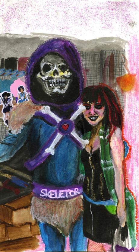 Self Portrait at 17 With Skeletor