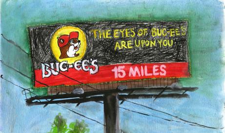 Buc-ee's Billboard on I-35