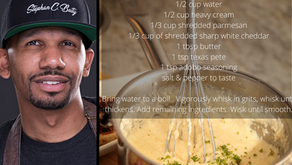 White Cheddar and Parmesan Grits