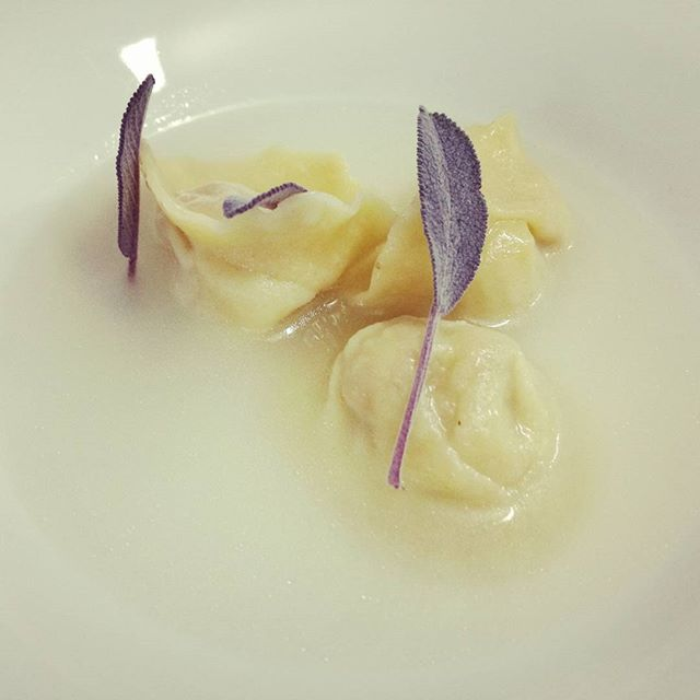 #ravioli #burro #salvia e #parmigiano _#rabbit stuffed ravioli passed in #sage  and #butter in a #pa