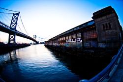 Ben Franklin Bridge at 7am