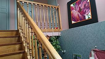 cage d'escalier avant relooking