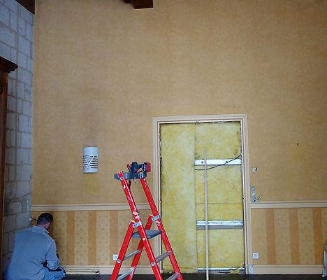 mur salle de restaurant avant travaux