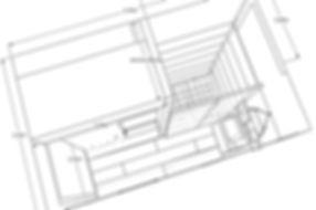 croquis plan 3 D salle de bain
