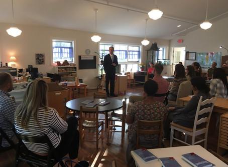 Author and Montessori Advocate speaks at Middleburg Montessori School
