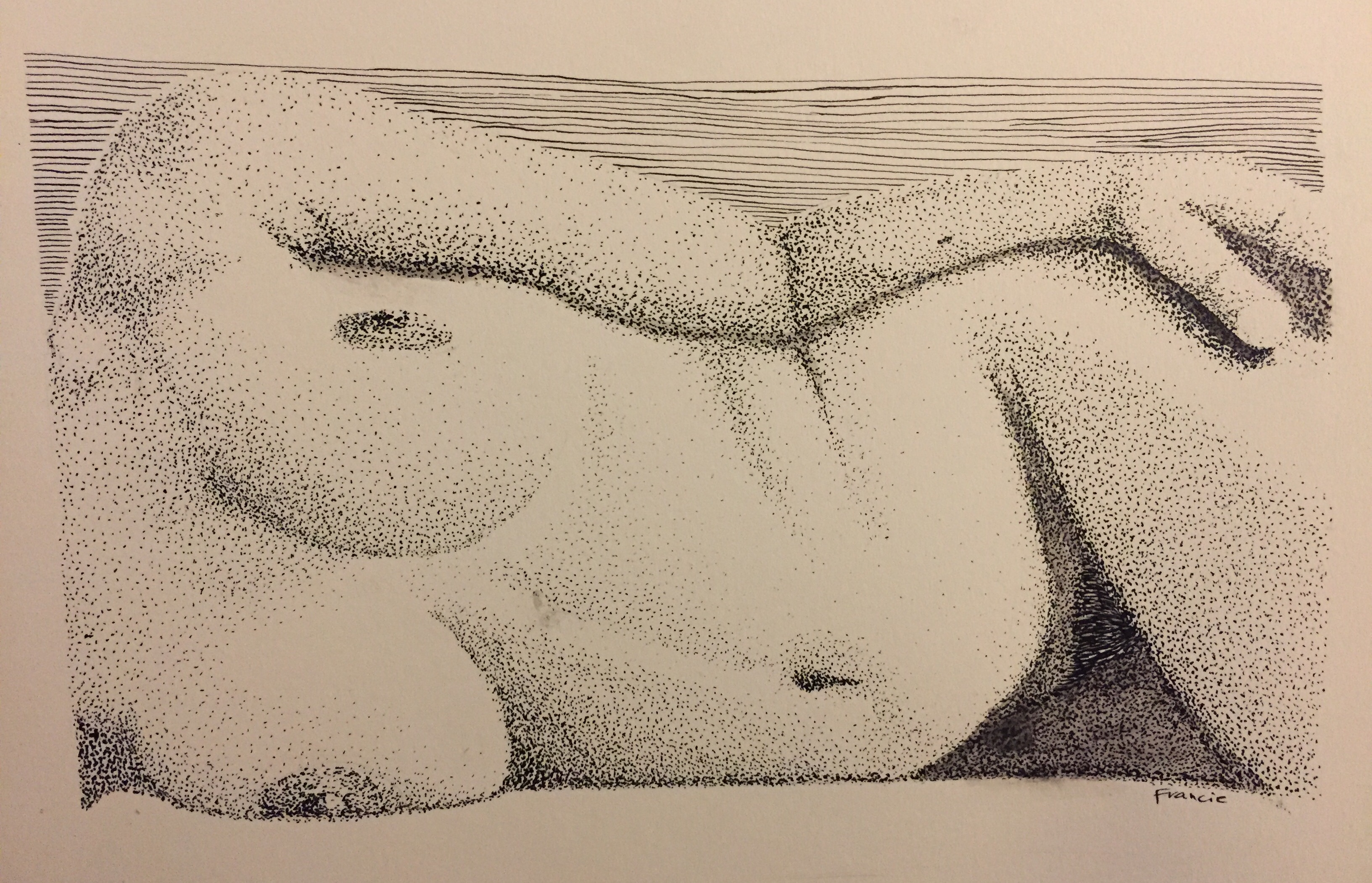 reclined nude