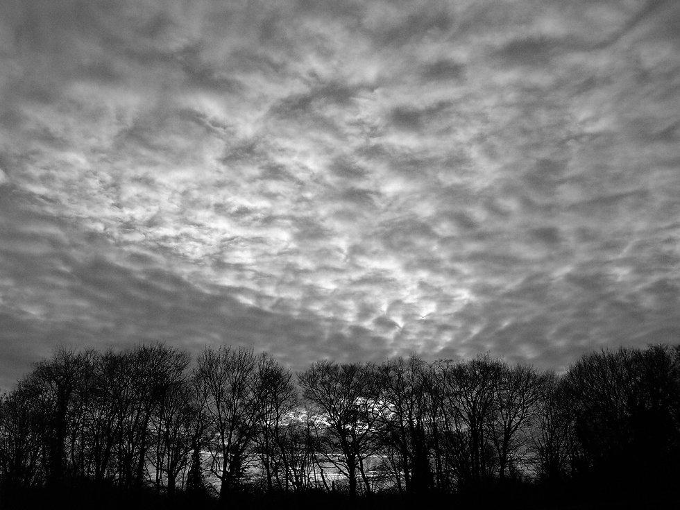 Landschaft mit Wolkenhimmel