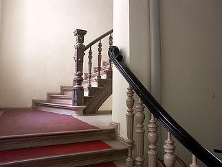 Foto mit Treppenaufgang