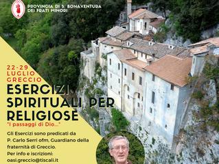 Esercizi Spirituali per Religiose a Greccio
