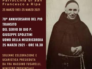 Servo di Dio P. Giuseppe Spoletini. Un frate minore ordinariamente straordinario.
