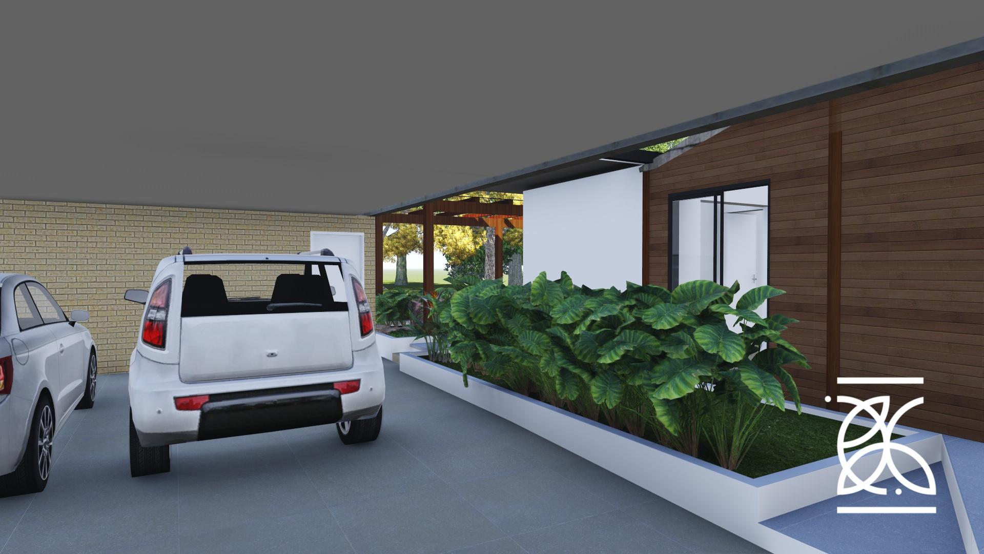 Garagem integrada