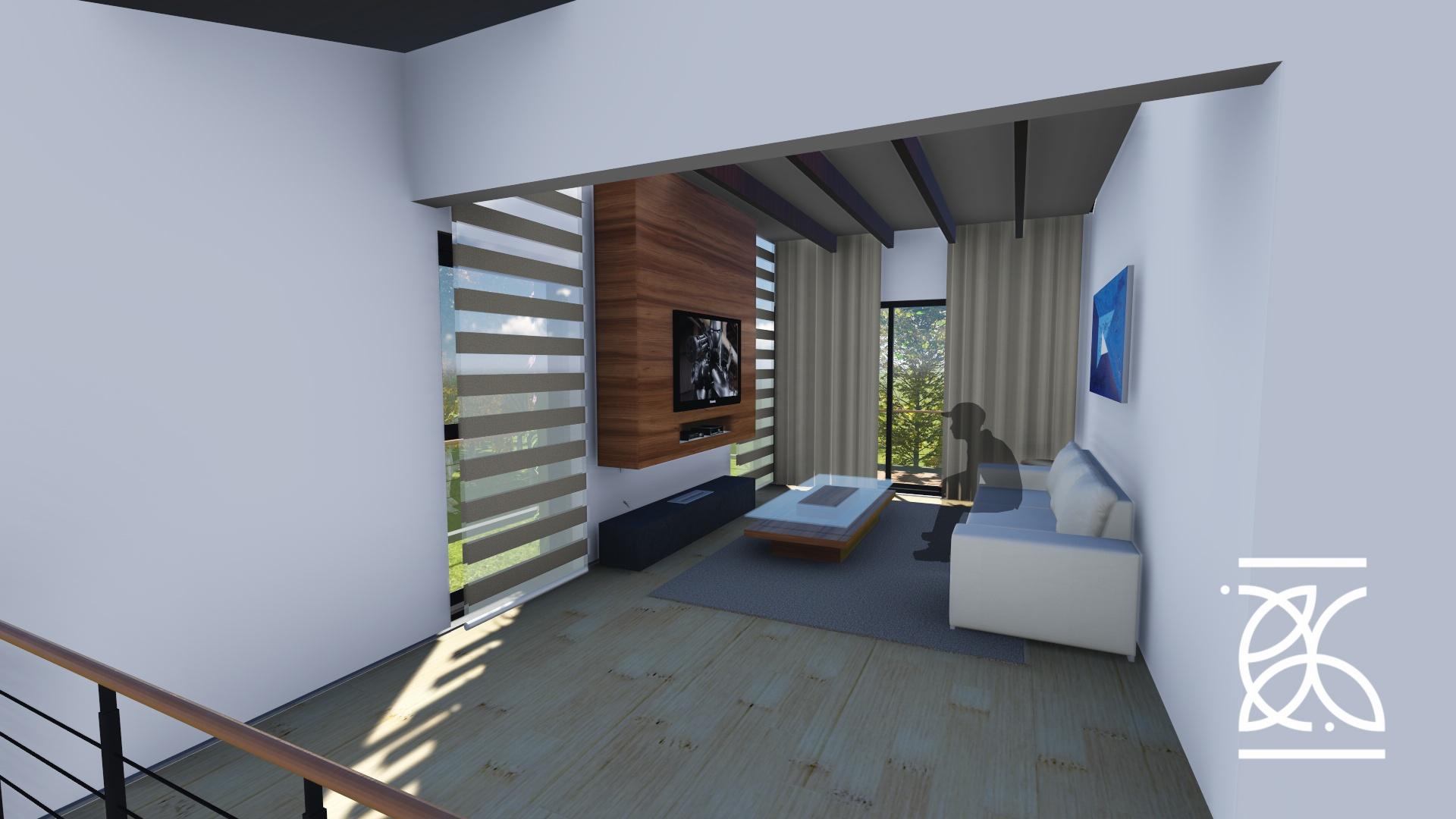 Sala de TV com iluminação natural