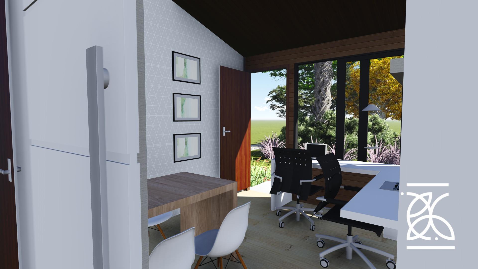 Home Office com iluminação natural