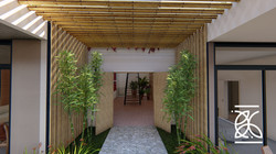 Detalhes em bambu