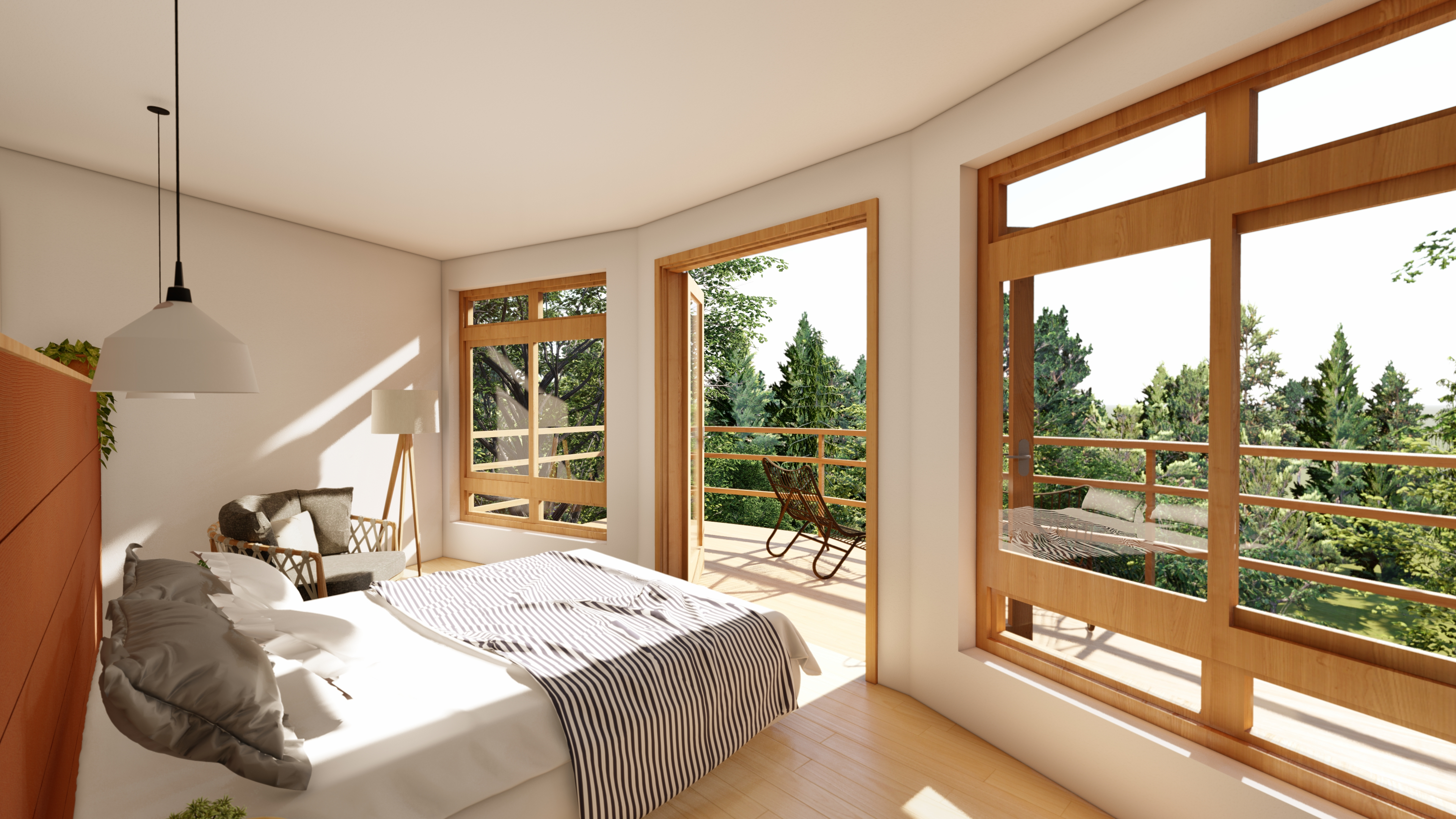 Suite com varanda