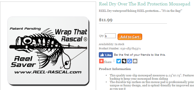 Wrap that Rascal Reel Saver mouse p