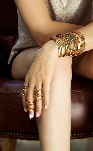 Bracelet et bague MOORE de by fleur de Jade