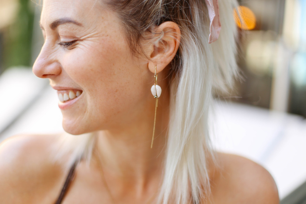 Boucles d'oreille MAHÉ de by fleur de Jade