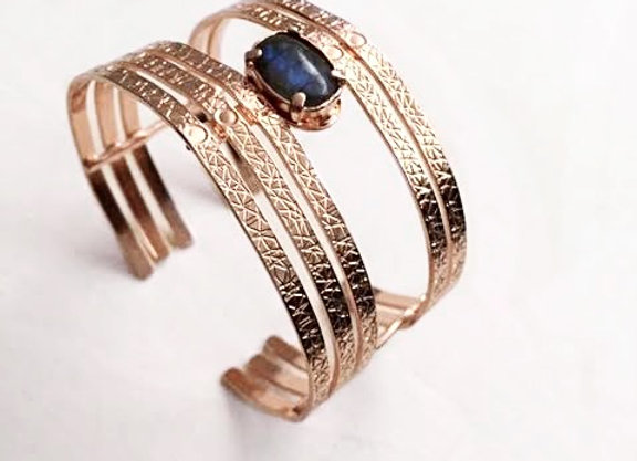 bracelet MOORE or rose 24K