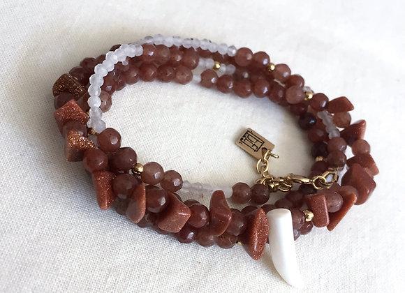 Bracelet ou collier TERRA aventurines