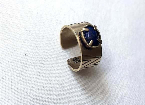 bague INO homme or mat